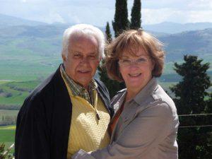 Pietro A. Giorgi, Sr. CMKBD, Co-Founder posing with his wife Ellen Cheever-Giorgi ASID, CMKBD, CAPS
