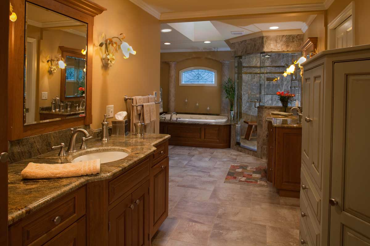 Fancy Bathroom: Plain And Fancy Custom Vanities In Cherry