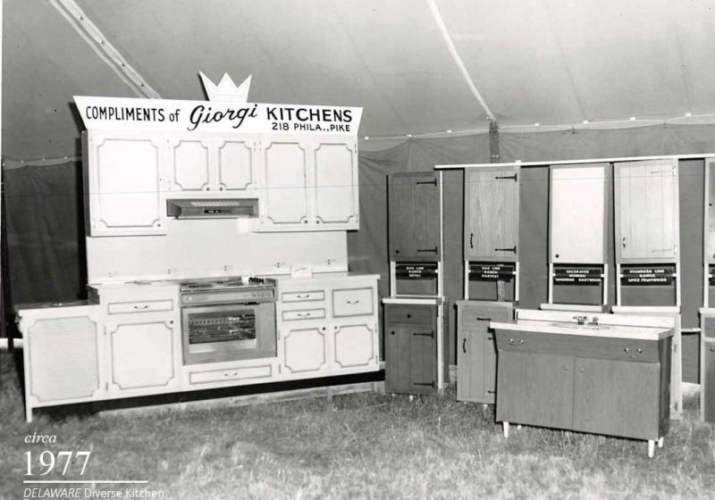 Wide variety of unique Cabinetry options offered by Giorgi Kitchens in the 1980's for vintage kitchens