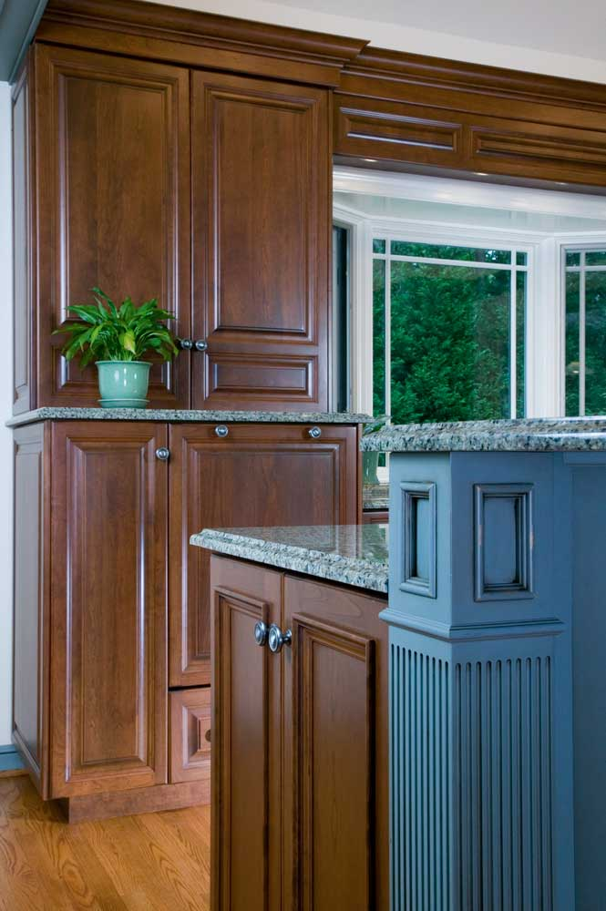 Cherry Cabinetry in a Traditional Kitchen Design in Wilmington Delaware by Giorgi
