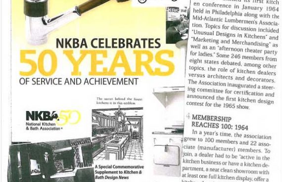 Giorgi kitchens in national kitchen bath association magazine for being one of the first 100 members