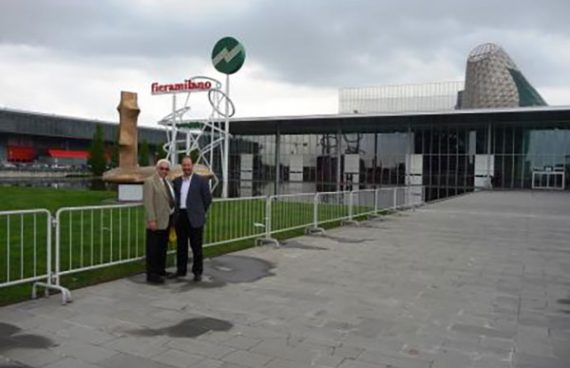 Joseph Giorgi, Jr. and Pete Giorgi, Sr. Attending Eurocina in Milan, Italy in April 2012
