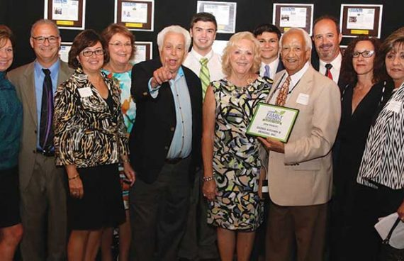 Giorgi kitchens and designs team accepting their award for Delaware Business Times 2016 Family-Owned Business nomination