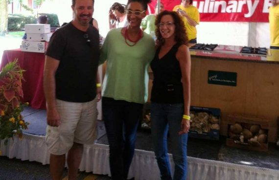 Dawn Giorgi and Joseph A. Giorgi, Jr. attending the mushroom festival 2013 in Kennett square Pennsylvania
